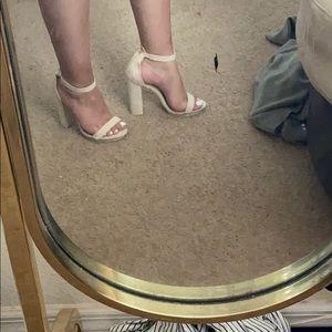 Nude Open Toe Heel